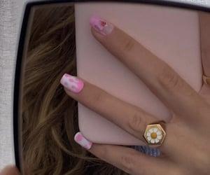 nails, pink nails, and nails design image