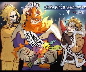 anime, hawks, and endeavor image
