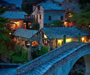 mostar, bosnia and herzegovina, and ancient village image