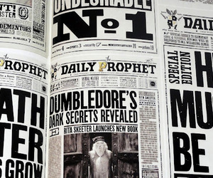 black and white, book, and dumbledore image