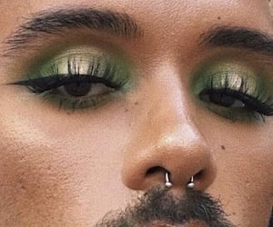 beauty, eyes, and green image