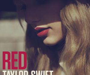 Taylor Swift, red, and album image