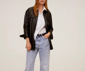 auburn, chic, and leather image