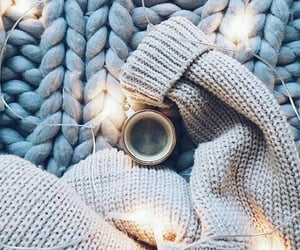 blue, blanket, and fall image