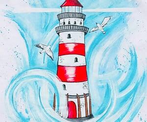 art, nautical, and drawing image