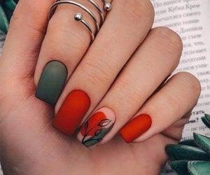 nails, girl, and art image