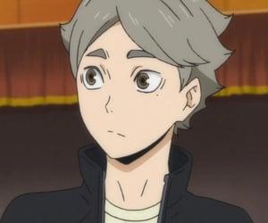 anime, volleyball, and haikyuu image