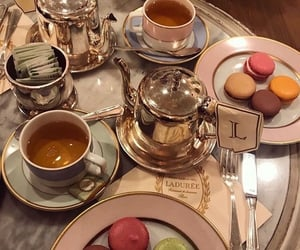 laduree, ‎macarons, and pastry image