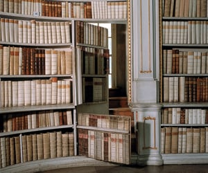 books, library, and aesthetic image
