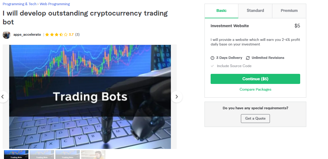 article, bot, and crypto trading bot image