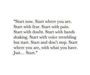 Just...start.