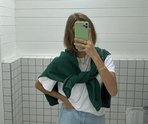 green sweater, everyday look, and fashionista fashionable image