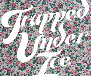 floral, text, and trapped under ice image
