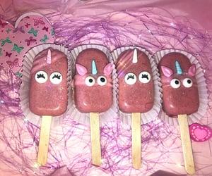 unicorn, cakepop, and pink image