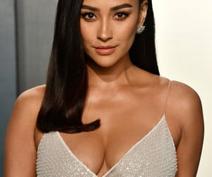 premiere, silver dress, and shay mitchell image