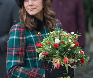 plaid, winter, and kate middleton image