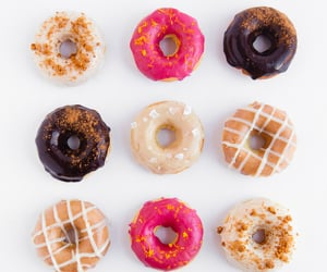 delicious, sweet, and donuts image