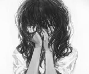 girl, sad, and anime image