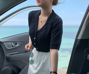 beach, car, and driving image