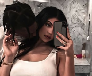 kylie jenner, kylie and travis, and kyliejenner image