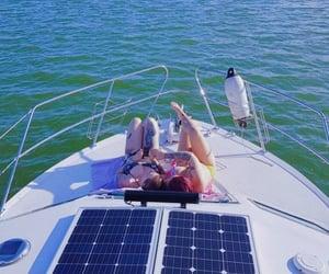 boat, love, and sailing image