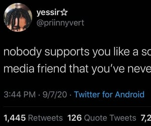 social media, support, and relatable image