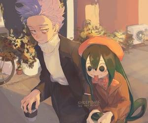 anime, my hero academia, and tsuyu asui image