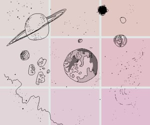pink, planet, and aesthetic image