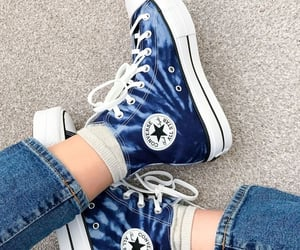 blue, converse, and sneakers image