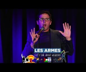 gun, dark humour, and french image