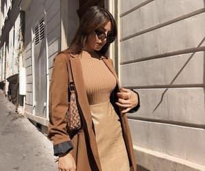 brown, coat, and fall image
