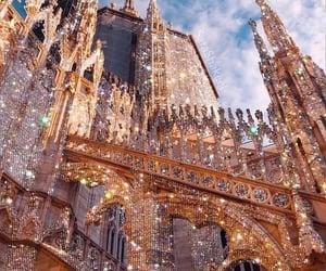 glitter, castle, and art image