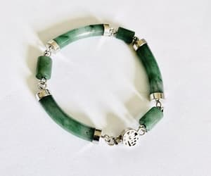 costume jewelry, etsy, and jade bracelet image