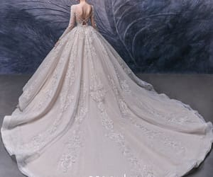 bridal, gorgeous wedding dress, and bridal gown image