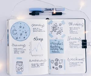 bullet journal, journal, and blue image