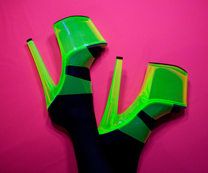 neon, green, and shoes image