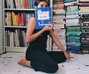 books, bookshelf, and poet image