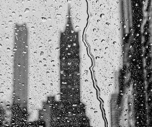 black, rain, and rainy image