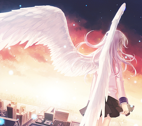 angel, girl, and music image