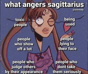 astrology, Sagittarius, and sign image