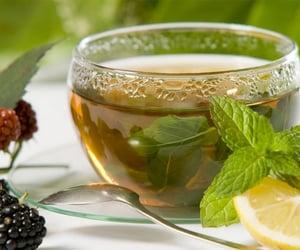 tea, lemon, and green tea image