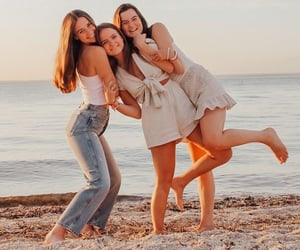 beach, bestfriends, and friendship image