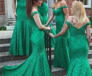 lace bridesmaid dress, wedding party dresses, and cheap bridesmaid dress image