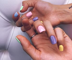nails, unhas, and colored image