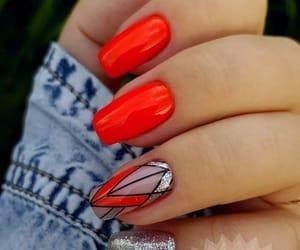 brilho, nails, and red image