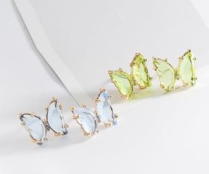 earrings, fashion, and butterfly earrings image