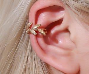 earrings, fashion, and leaf earrings image