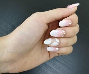 baby pink, gems, and nail art image