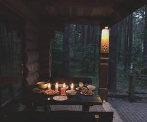 candle, cozy, and forest image
