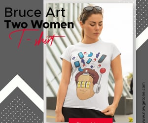 online shopping, t-shirts, and women fashion image